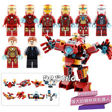 Marvel Super Heroes Avengers Iron Man 8 In 1 DIY Building Blocks Ironman Toys