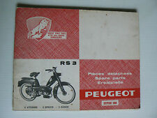 CATALOGUE PIECES DETACHEES PEUGEOT RS3 de 1966