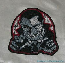 Embroidered Retro Halloween Dracula Vampire B&W Movie Monster Patch Iron On USA