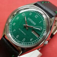 Vintage citizen  automatic mens day date  japan working wrist watch C019