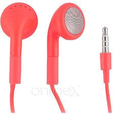 Auricular con micrófono Universal para Samsung Galaxy Beam Rojo a1151
