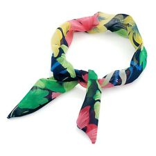 Black Multi Coloured Flower Print Knot Wired Headband Hair Wrap Band Accessories
