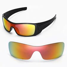 New Walleva Fire Red Replacement Lenses For Oakley Batwolf Sunglasses