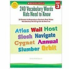 FREE 2 DAY SHIPPING: 240 Vocabulary Words Kids Need to Know: Grade 3: 24