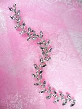 "ACT/XR115/A  Applique Crystal Rhinestone Flexible Vine  Embellishment 9"" Glory!@"
