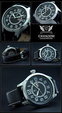 OBSERVATION XXXL 47MM AVIATOR CAVADINI WATCH TAG/DATE EASY TO READ 10 BAR