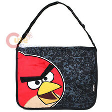 Rovio Angry Birds School Messenger Bag with Large Plush Red Bird in Black