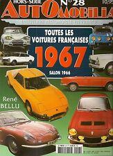 AUTOMOBILIA HS 28 TOUTES LES VOITURES FRANCAISES 1967 salon 1966