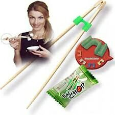 FUN CHOP 5 TRAINING CHOPSTICKS CHEATERS HELPERS INDIVIDUALLY PACKAGED FUNCHOP