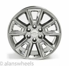 "4 NEW Chevy Silverado Avalanche 20"" Silver & Chrome Wheels Rims Free Ship 5696"