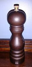 "Peugeot Adjustable U'Select Salt Mill Grinder 7"" Chocolate Brown - French France"
