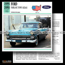 #047.07 FORD FAIRLANE TOWN SEDAN (1955-1959) - Fiche Auto Classic Car card