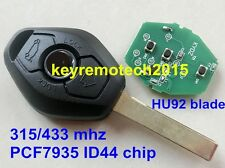 Remote Key 3 Button ID44 CHIP 315MHZ/433MHZ Fit For BMW 3 5 7 SERIES E38 E39 E46