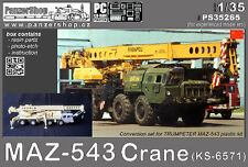 MAZ-543 Crane KS-6571 conversion resin set 1/35 PanzerShop Trumpeter Scud Smerch