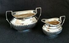 Periodo edoardiano Sterling Silver sugar bowl & Crema Brocca. SHEFFIELD 1903/05. da Atkin ri