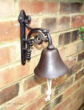 Cast Iron Flower Front Door bell Bracket Gate Garden Ornament Home Gift New