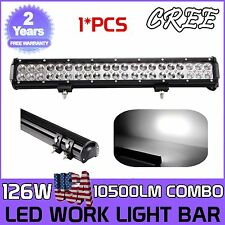 20 inch 126W LED WORK LIGHT BAR FLOOD&SPOT COMBO OFFROAD UTE 4x4WD Driving LAMP