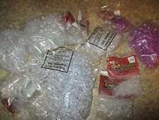 LOT of Over 1 Pound of Plastic CLEAR And PURPLE BEADS-Assorted Sizes & Shapes