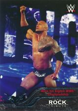 #32 WINS EIGHTH WWE CHAMPIONSHI 2016 Topps WWE Then Now Forever THE ROCK TRIBUTE