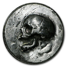 3 oz Silver Round - MK Barz & Bullion (Skull, Ultra High Relief) - SKU #95277