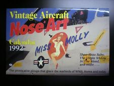 Calendar Vintage aircraft Nose Art 1992 Pin'up calendrier