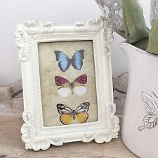 VINTAGE SHABBY CREAM SHABBY FRENCH CHIC PHOTO PICTURE FRAME 6 X 4 INCH PHOTO