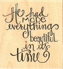 He Made Everything, Wood Mounted Rubber Stamp IMPRESSION OBSESSION - NEW, D19107