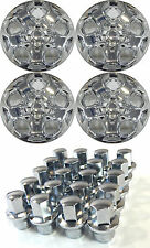 "(4) 2010-2012 FORD FUSION 17"" CHROME HUBCAPS WITH TWENTY (20) LOCKING LUGNUTS"