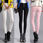Womens High Waist Skinny Stretchy Slim Pencil Pants Trousers Leggings Jeggings