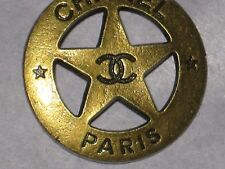 CHANEL  PARIS CC LOGO FRONT AUTH  BRONZE   BUTTON 24 MM NEW DALLAS STAR