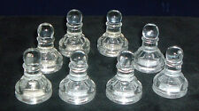 "Glass Chess Replacement Piece Clear Eight 8 Pawns 1 5/8"" Craft Project"