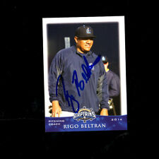 Rigo Beltran 2014 Lake County Captains auto signed team card Cleveland Indians