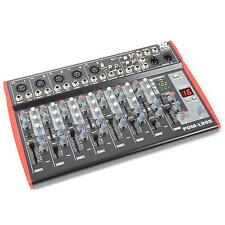 PRO 9 CHANNEL DJ MIXER USB MICROPHONE IN +48v STUDIO & LIVE DJ MIXING EQUIPMENT