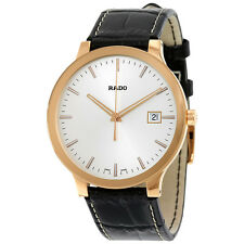 Rado Centrix White Dial Dark Brown Leather Quartz Mens Watch R30554105
