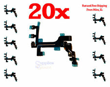 iphone 5C Power Mute Volume Button Connector Flex Cable Mic for HQ OEM LOT 20
