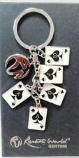 Beautiful KEY CHAIN with casino cards from Resorts World Genting