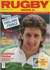 RUGBY WORLD MAGAZINE FEBRUARY 1987 - PERFECT GIFT FOR A FAN BORN IN THIS MONTH