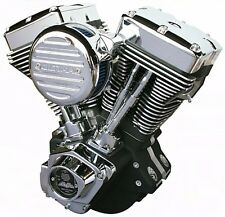 "Ultima El Bruto Complete Evolution 113"" Black Motor Engine Harley Evo Big Twin"