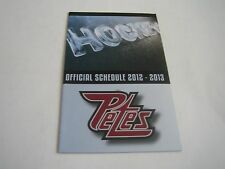 2012/13 OHL PETERBOROUGH PETES POCKET SCHEDULE***VINCENT PRESS***