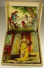 Antikes Würfel lege Puzzle Spiel in OVP um 1880