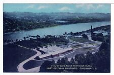 Postcard Ohio River Horticultural Buildings Eden Park Cincinnati Ohio Unused