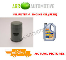 PETROL OIL FILTER + LL 5W30 ENGINE OIL FOR VAUXHALL ASTRA 1.6 86 BHP 2002-05
