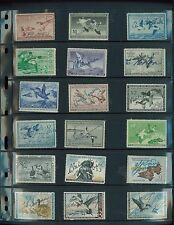 US MIGRATORY BIRD HUNTING STAMPS (32 stamps!) RW13-48 Used F-VF  -BBB