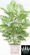 4ft PHOENIX PALM ARTIFICIAL SILK TREE PLANT BUSH ARRANGEMENT CHRISTMAS LIGHTS