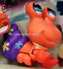 ☀LITTLEST PET SHOP☀ORANGE WALKING HERMIT CRAB #2313☀NIP☀WALKABLES SEA CREATURE☀