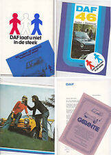 1974 DAF 46 Presentation Folder with Brochure and Promotional Flyers in Dutch