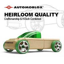 *NEW IN BOX* AUTOMOBLOX T9 Green Ute Pickup wooden puzzle model