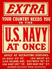 VINTAGE ADVERT US NAVY RECRUITMENT ART POSTER PRINT LV4624