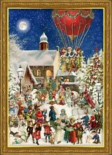 Richard Sellmer Verlag - German Paper Advent Calendar - Santa Claus at Market