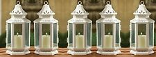 "White Wedding Candle Lantern 8"" Tall (Set of 5) Party Event Supplies 13360"